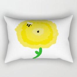 Bee & Yellow Flower Print Rectangular Pillow