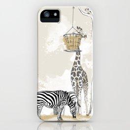 Zoo : Tigre, Zèbre, Girafe iPhone Case