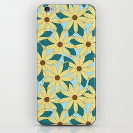 Gerbera Blue iPhone Skin