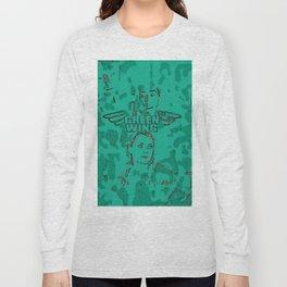 Strange Wing Of Green Long Sleeve T-shirt