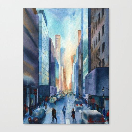 New York. Streets Canvas Print
