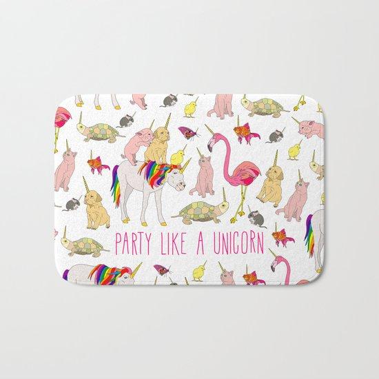 Party Like A Unicorn Bath Mat