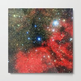 Gold Dusted Galaxy Metal Print