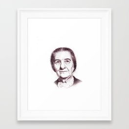 Golda Meir Framed Art Print