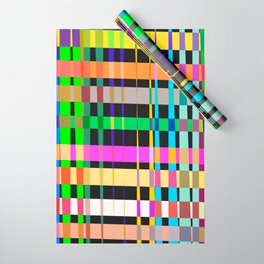 inclined coloured stripes Wrapping Paper