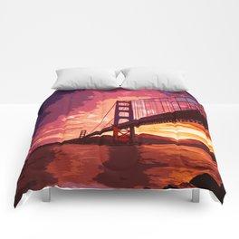 Golden Gate Bridge - San Francisco Comforters