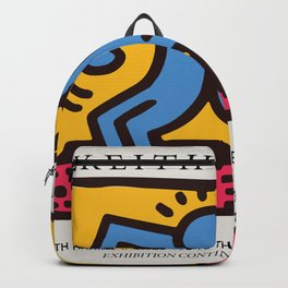 Keith Art, Exhibition Poster, Japan Vintage Print Backpack