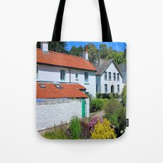 Caldey Island Village.Wales. Tote Bag