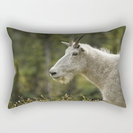Age and Wisdom in a Mountain Goat Rectangular Pillow
