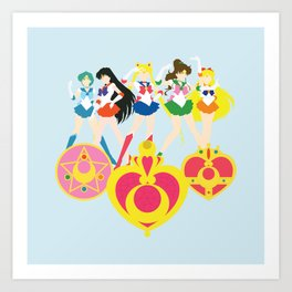 Sailor Soldiers Art Print