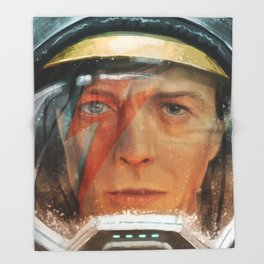 Bowie - The Man Who Fell to Earth Throw Blanket
