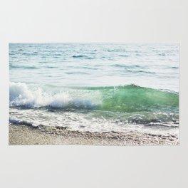 Aqua Waves in California Rug
