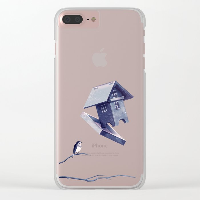 Freezing Bird...house Clear iPhone Case