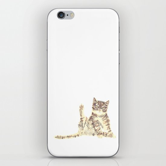 Cheeky Kitty Cat iPhone & iPod Skin