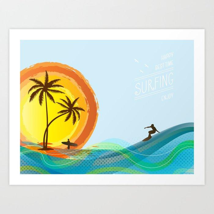 Enjoy summer Art Print