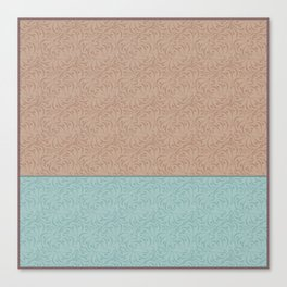 Combo beige turquoise abstract pattern . Canvas Print