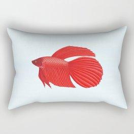 betta splendens red male Rectangular Pillow