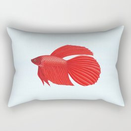 betta splendens red male Rectangular Pillow