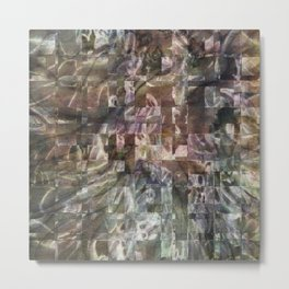 Jasper Textured Squares Metal Print