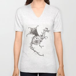 Garden Dragon Unisex V-Neck
