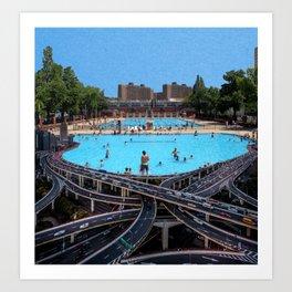 Shanghai Swimming Pool Art Print