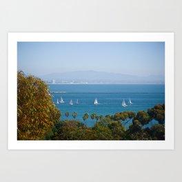 San Deigo Sailing Art Print