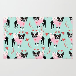 Boston Terrier valentines day cute dog gifts pure breed rescue dogs must haves Rug