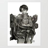 levi Art Prints featuring Levi Ackerman by OtakuRuki
