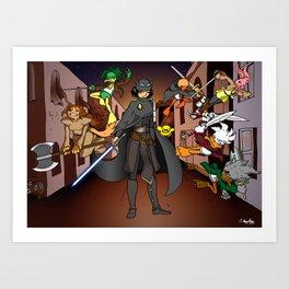 Callous Comics - Chronicles of the Black Queen Art Print