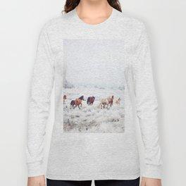 Winter Horses Long Sleeve T-shirt