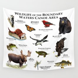 Wildlife of the Boundary Water Canoe Area Wall Tapestry