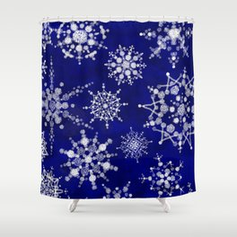 Snowflakes Floating through the Sky Shower Curtain