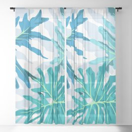 Botanical trilogy Sheer Curtain