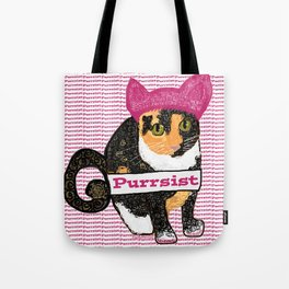 Purrsist Kitty Tote Bag