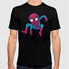Does whatever a spider can! Mens Fitted Tee Black MEDIUM