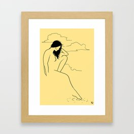 Woman by the water Framed Art Print