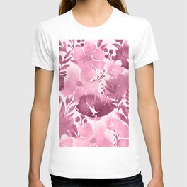 Watercolour background with variety of flowers III T-shirt