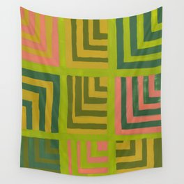 Painted Color Block Squares Wall Tapestry