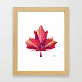 Canada 150 // Warm Framed Art Print