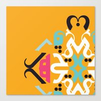 arabic Canvas Prints featuring Orange Arabic by Farah Saheb