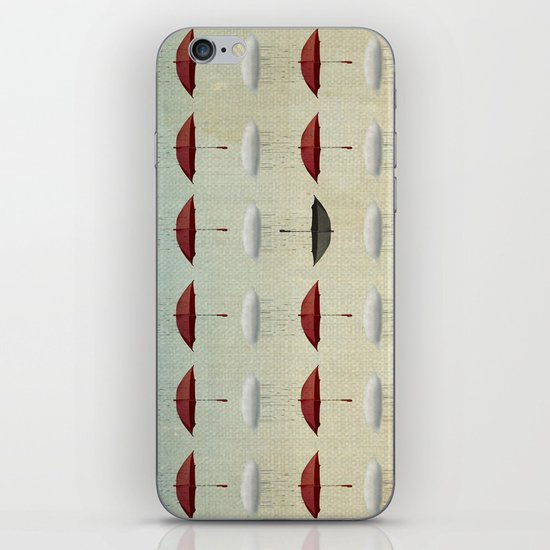 embracing the rain pattern iPhone & iPod Skin