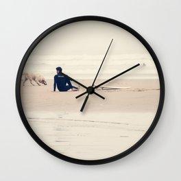 beach yoga Wall Clock