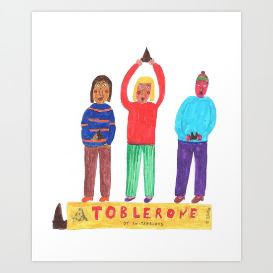 Toblerone. Art Print