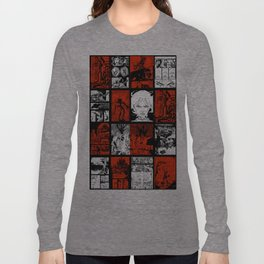 RED & WHITE - A nne Frankenstein Book I - Resurrection Long Sleeve T-shirt