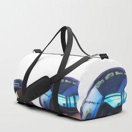 Going up - Goggles reflecting gondola Duffle Bag