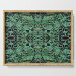 The Heirloom- Green Celtic Pattern Serving Tray