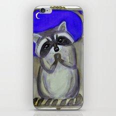 Reginald Raccoon and the Moon iPhone & iPod Skin
