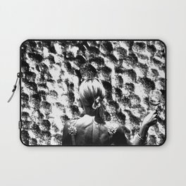 woman drinking a glass of wine on the moon Laptop Sleeve