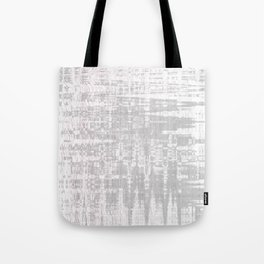 Greyish dirty and wavy look on white pavement Tote Bag