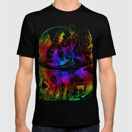 Psychedelic Alice in Wonderland Smoking Caterpillar T-shirt